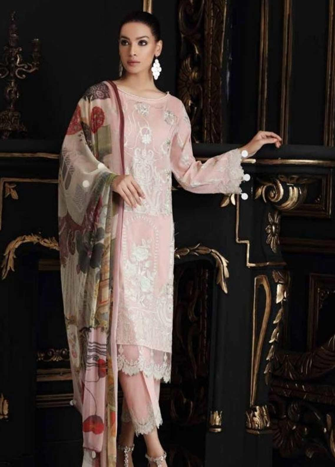 Charizma Embroidered Swiss Voile Unstitched 3 Piece Suit CRZ19-S4 35 - Festive Collection