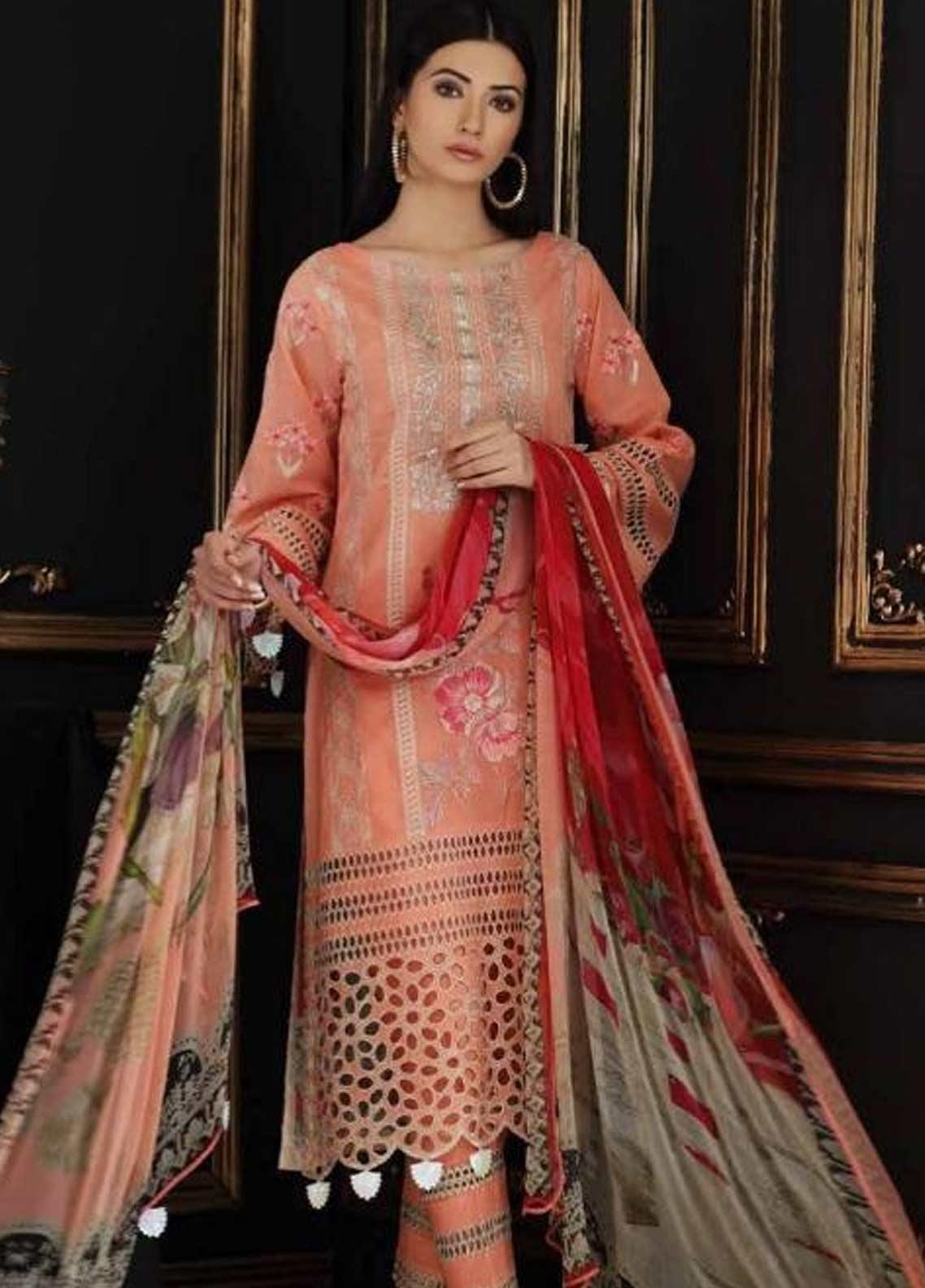 Charizma Embroidered Swiss Voile Unstitched 3 Piece Suit CRZ19-S4 39 - Festive Collection