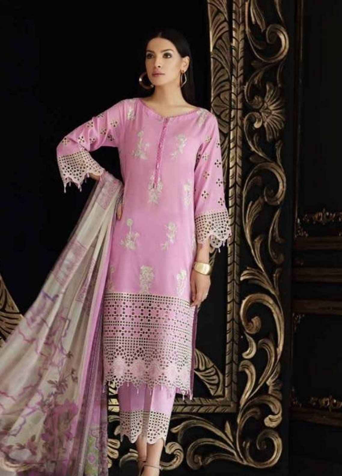 Charizma Embroidered Swiss Voile Unstitched 3 Piece Suit CRZ19-S4 41 - Festive Collection