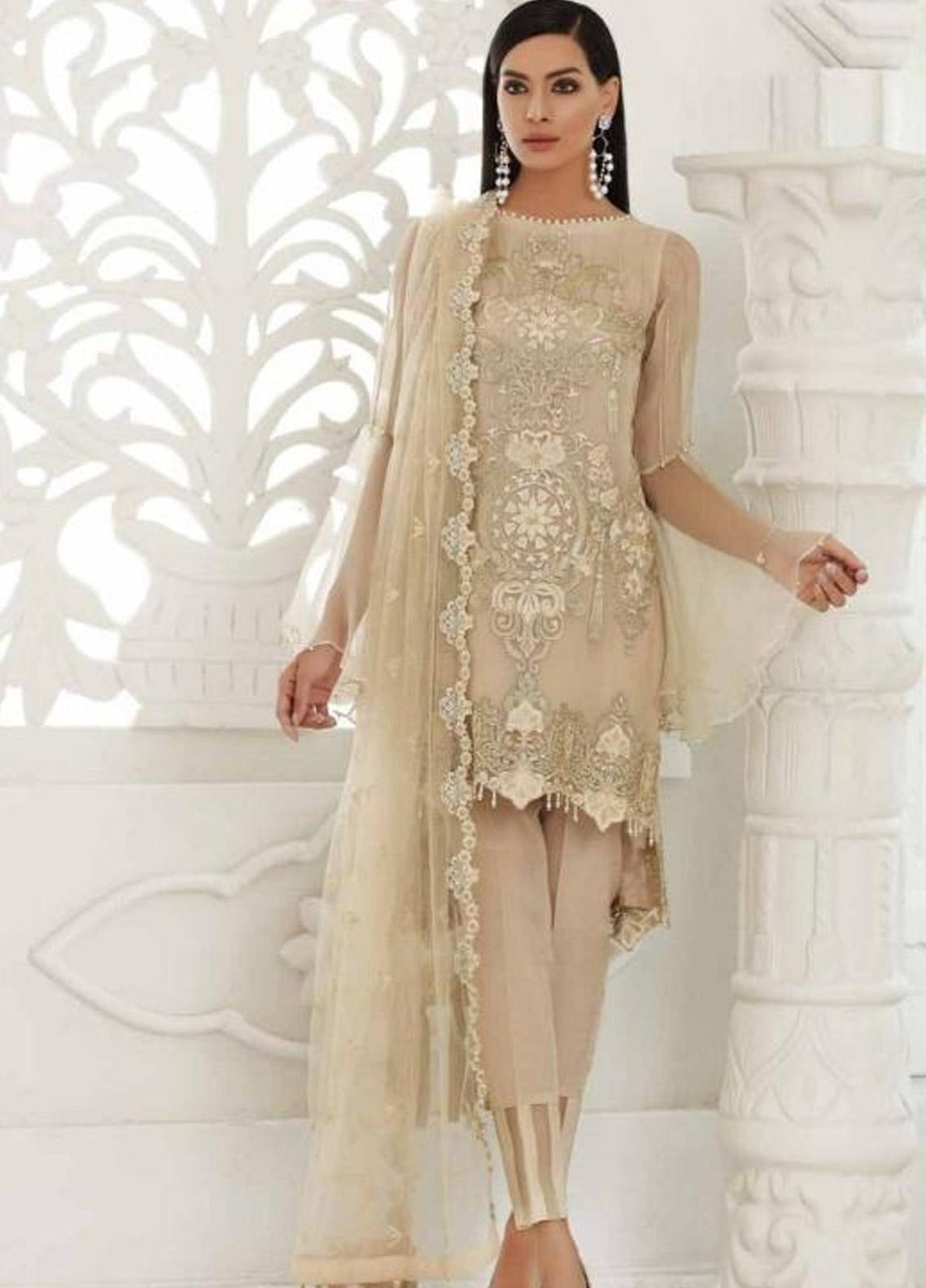 fccaf777e5 Chimmer by Charizma Embroidered Chiffon Unstitched 3 Piece Suit CRZ19-C3 16  - Festive Collection