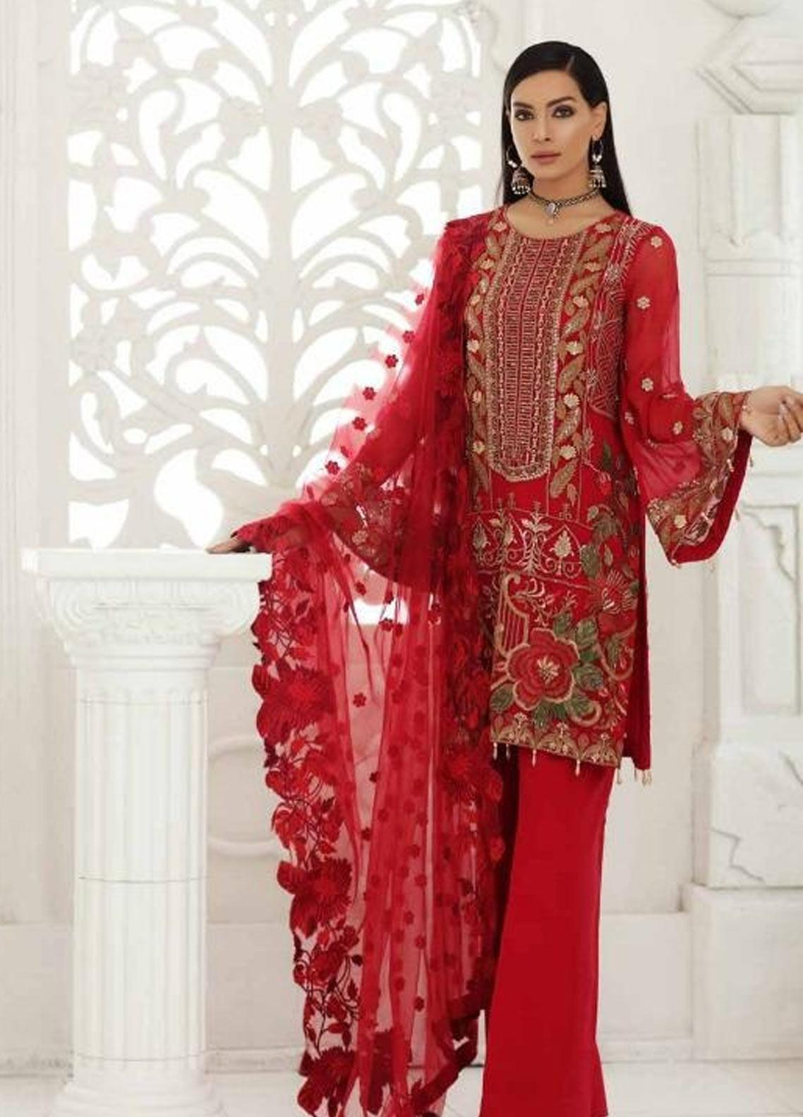 ff6906e452 Chimmer by Charizma Embroidered Chiffon Unstitched 3 Piece Suit CRZ19-C3 17  - Festive Collection