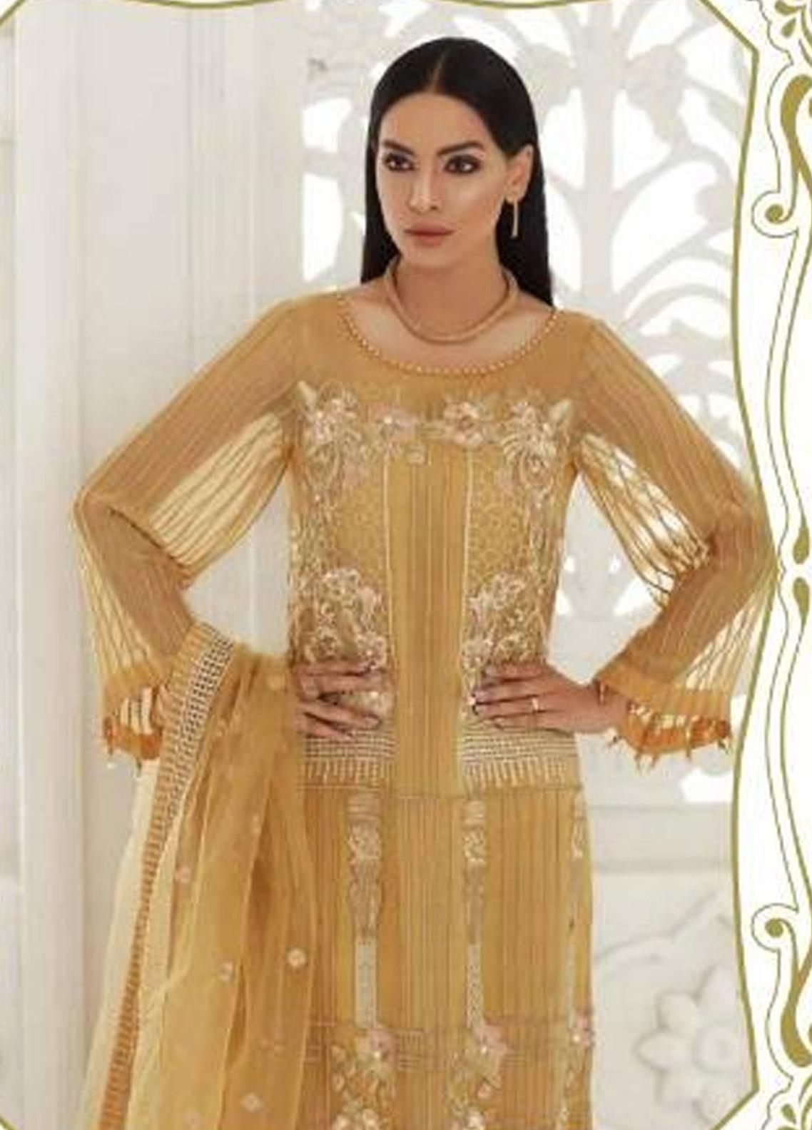 eb9870c58e Chimmer by Charizma Embroidered Chiffon Unstitched 3 Piece Suit CRZ19-C3 21  - Festive Collection