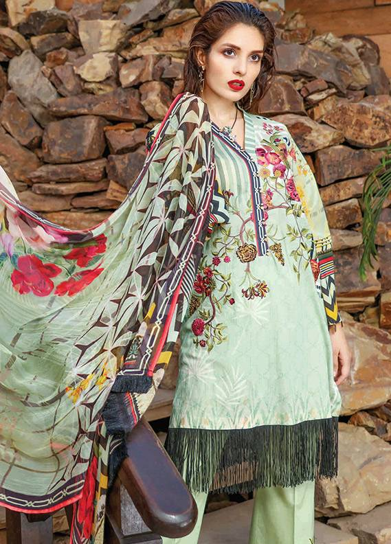 Peridot Embroidered Lawn Unstitched 3 Piece Suit PD18L 108 - Spring / Summer Collection