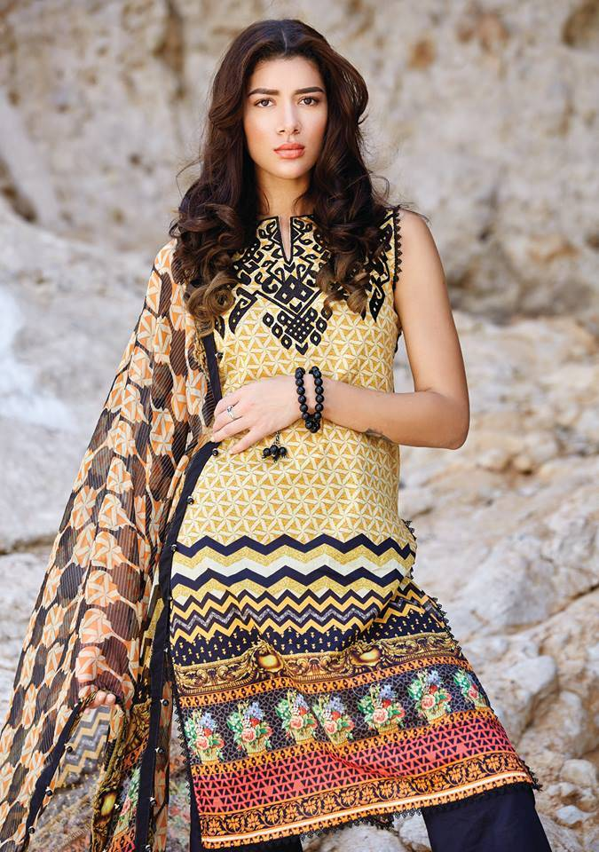 Embroidered Lawn Unstitched 3 Piece Suit CL17L 02