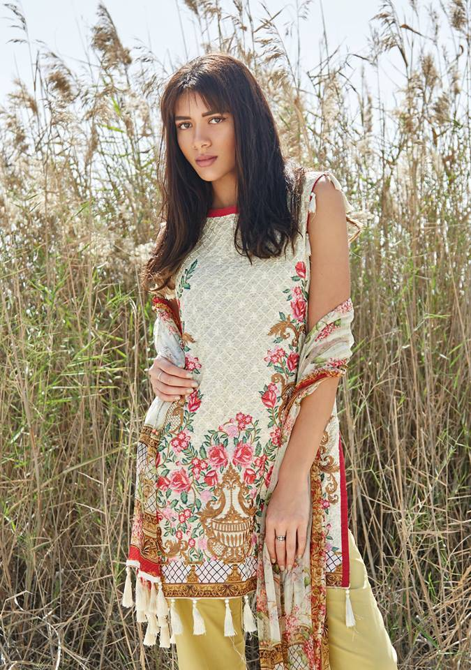 Embroidered Lawn Unstitched 3 Piece Suit CL17L 06