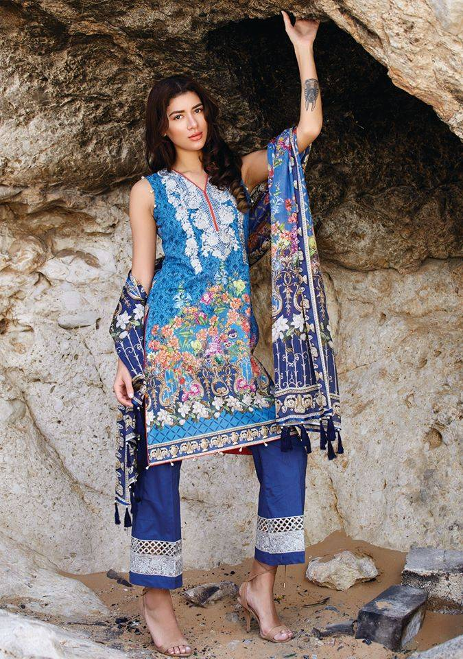 Embroidered Lawn Unstitched 3 Piece Suit CL17L 08