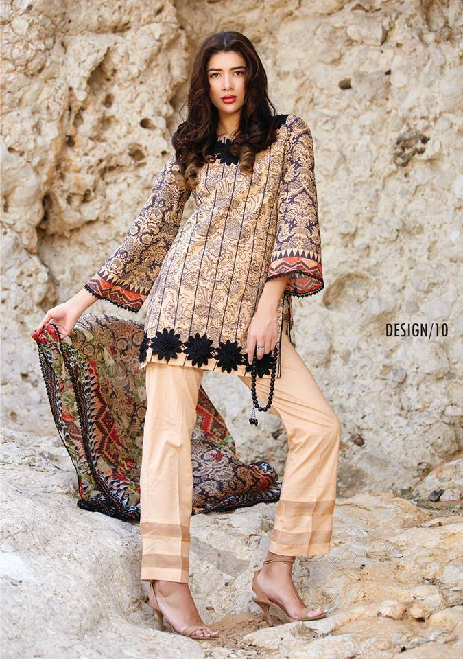 Embroidered Lawn Unstitched 3 Piece Suit CL17L 10