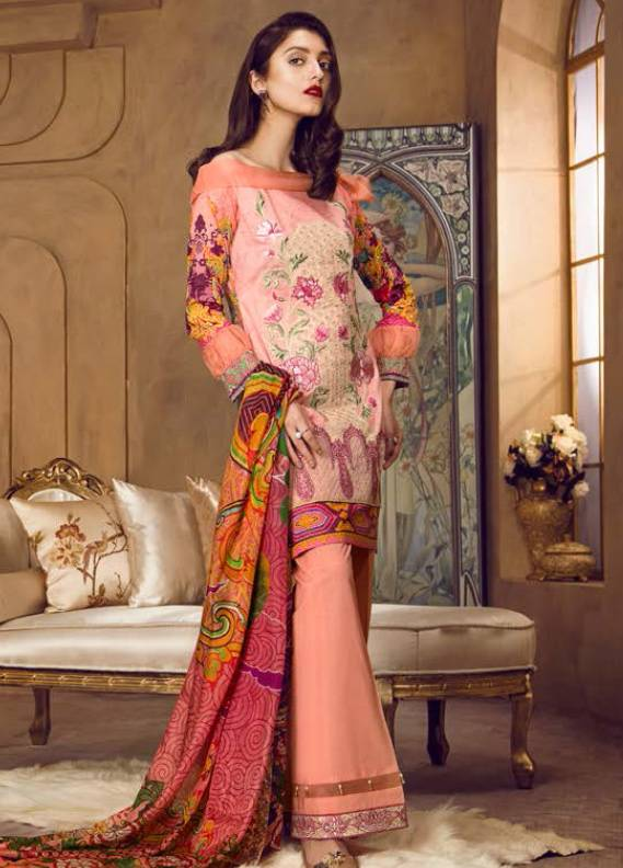 Coronation Embroidered Lawn Unstitched 3 Piece Suit CN18L 12 - Spring / Summer Collection