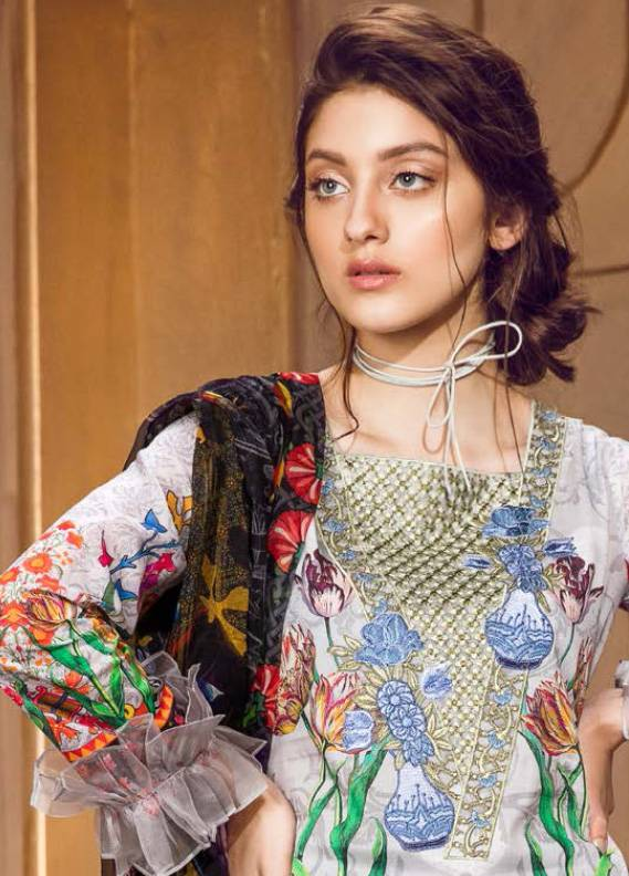 Coronation Embroidered Lawn Unstitched 3 Piece Suit CN18L 08 - Spring / Summer Collection