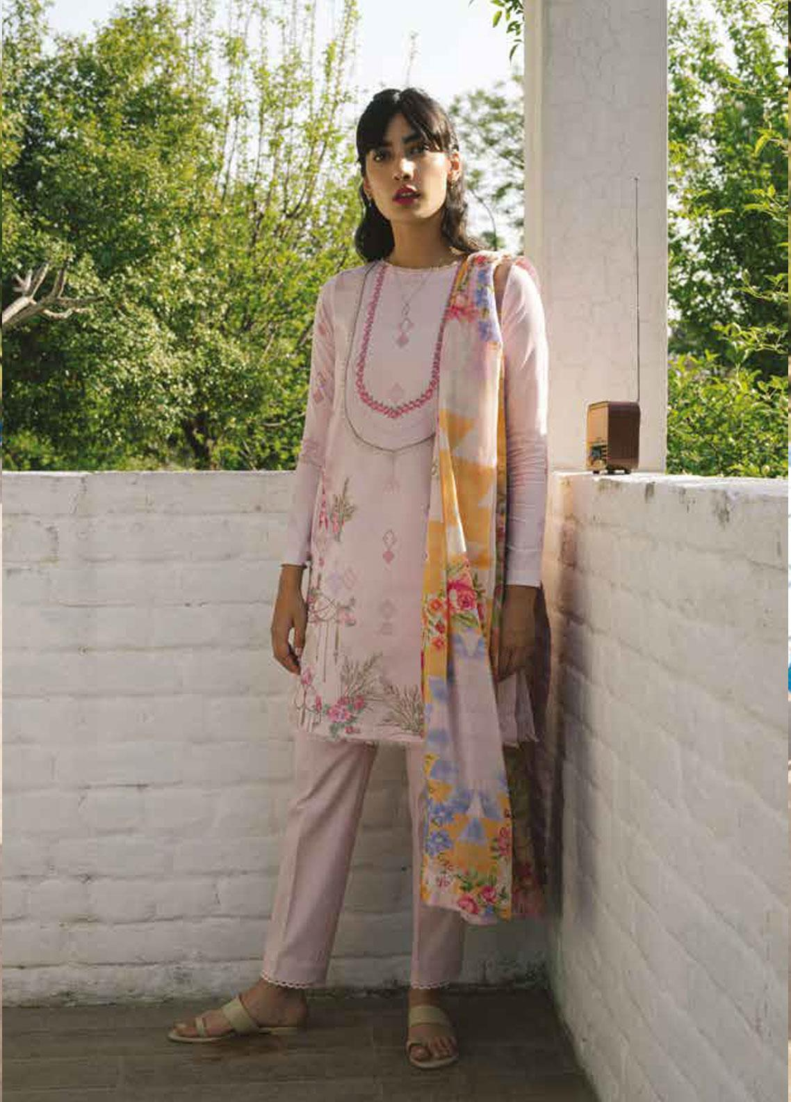 Coco by Zara Shahjahan Embroidered Lawn Unstitched 3 Piece Suit COC19L 5A - Spring / Summer Collection