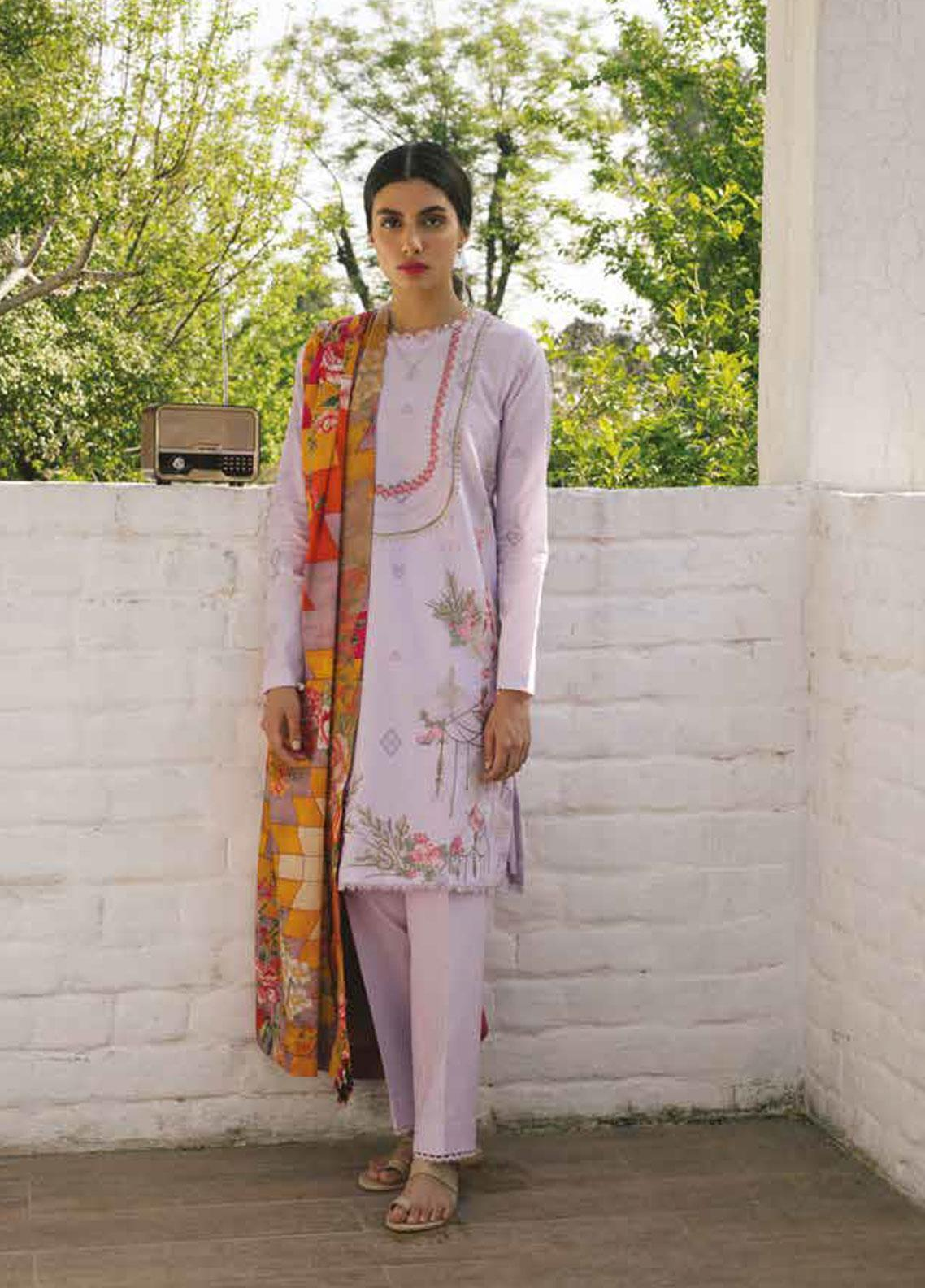 Coco by Zara Shahjahan Embroidered Lawn Unstitched 3 Piece Suit COC19L 5B - Spring / Summer Collection
