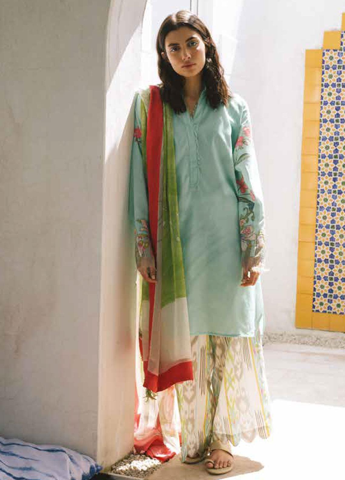 Coco by Zara Shahjahan Embroidered Lawn Unstitched 3 Piece Suit COC19L 6A - Spring / Summer Collection