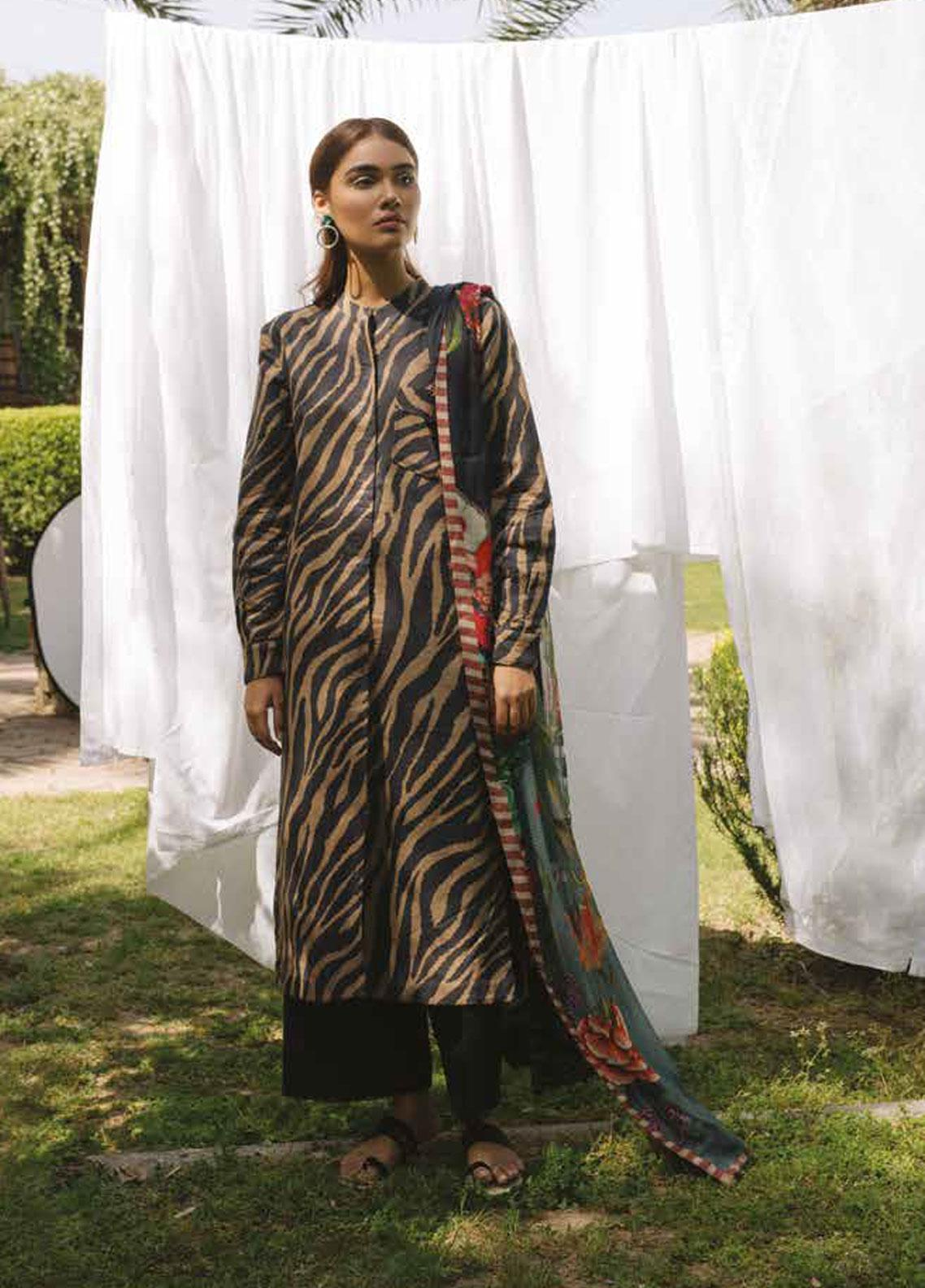 Coco by Zara Shahjahan Embroidered Lawn Unstitched 3 Piece Suit COC19L 7B - Spring / Summer Collection