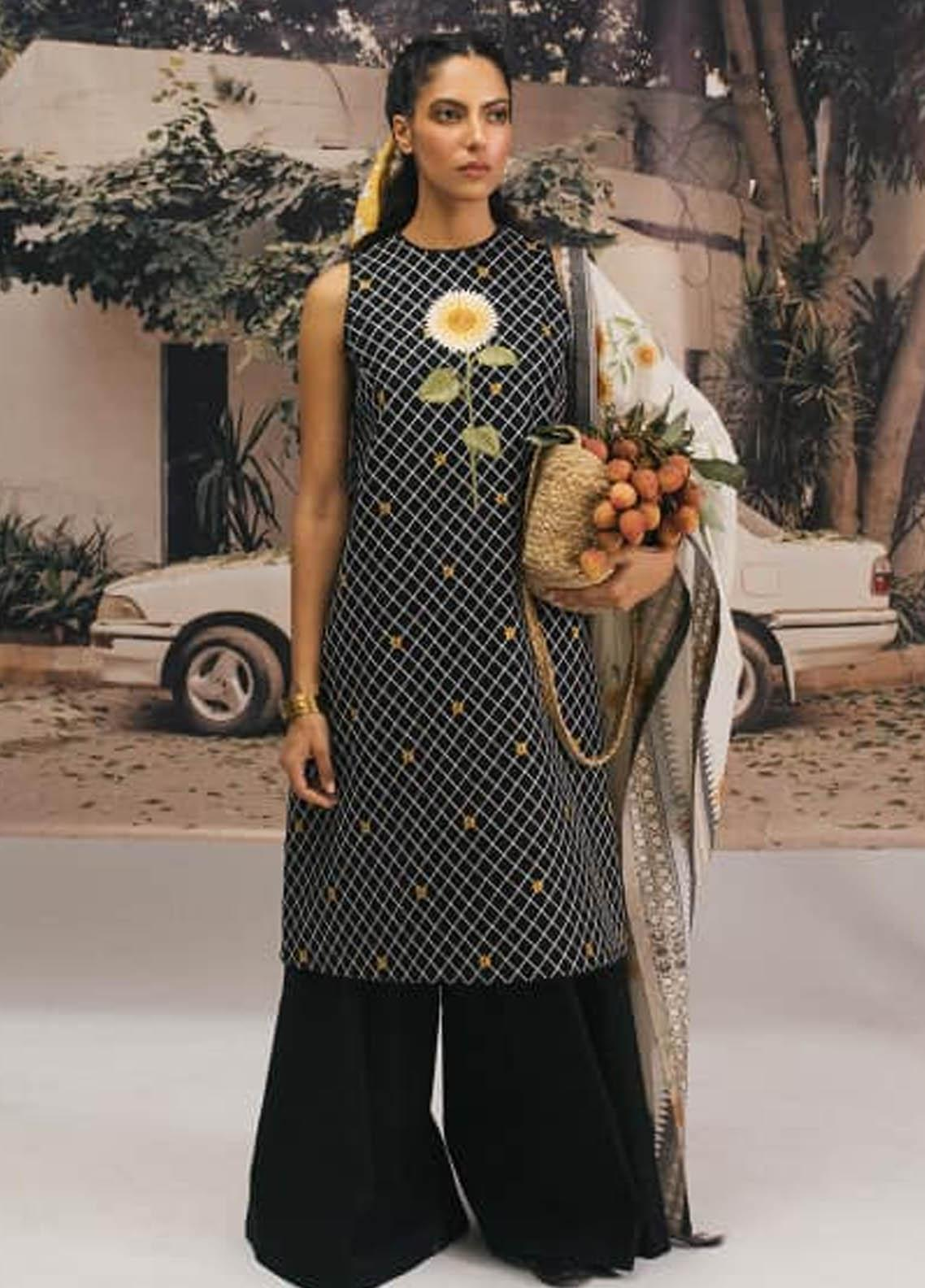 Coco by Zara Shahjahan Embroidered Lawn Unstitched 3 Piece Suit COC20SS 8B - Spring / Summer Collection