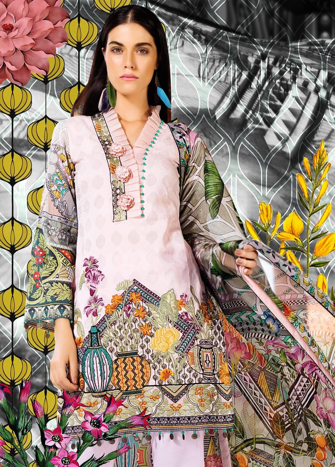 Coronation Embroidered Jacquard Unstitched 3 Piece Suit COR18E 04 - Festive Collection
