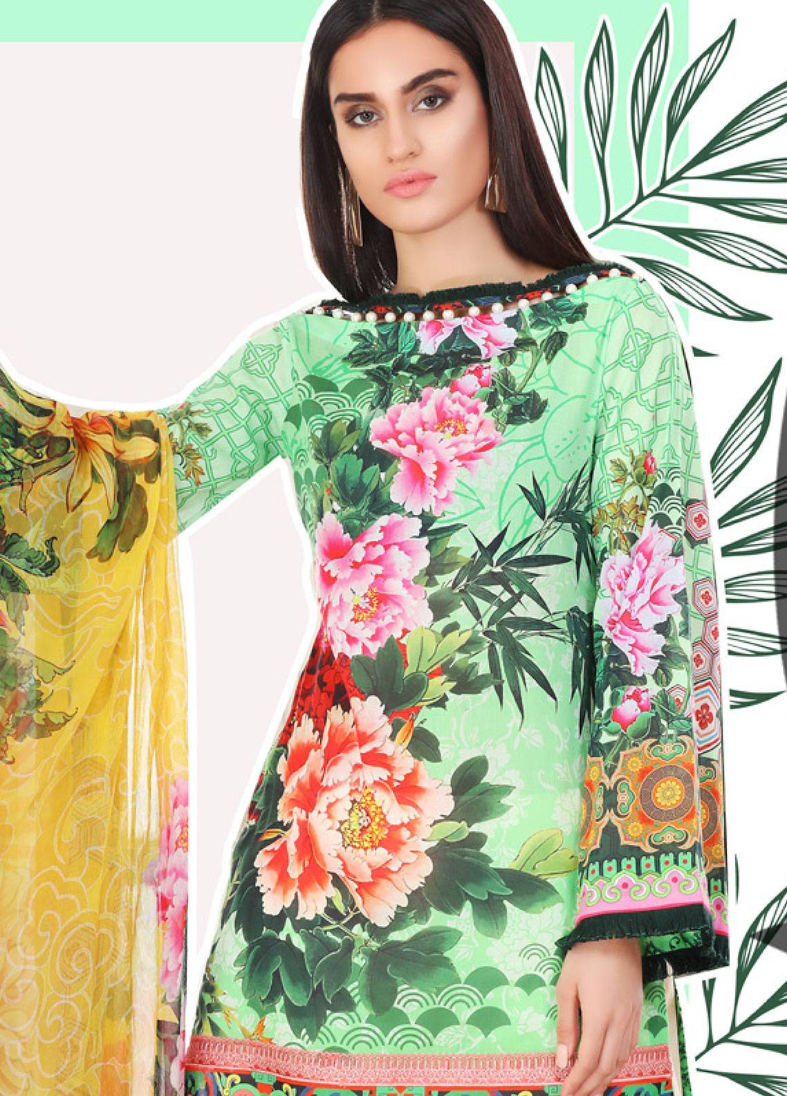 Coronation Embroidered Lawn Unstitched 3 Piece Suit COR18L 04 - Spring / Summer Collection