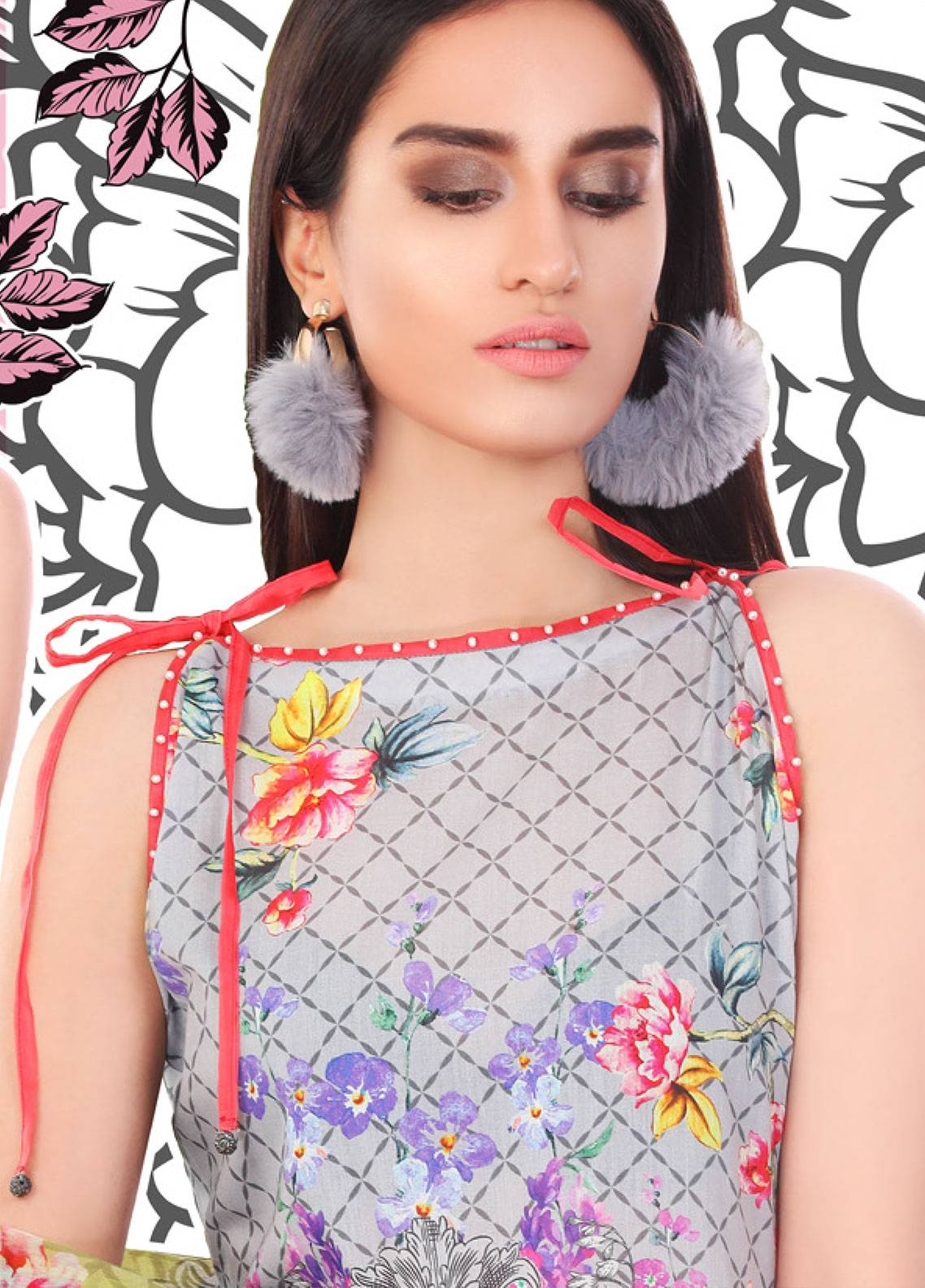 Coronation Embroidered Lawn Unstitched 3 Piece Suit COR18L 05 - Spring / Summer Collection