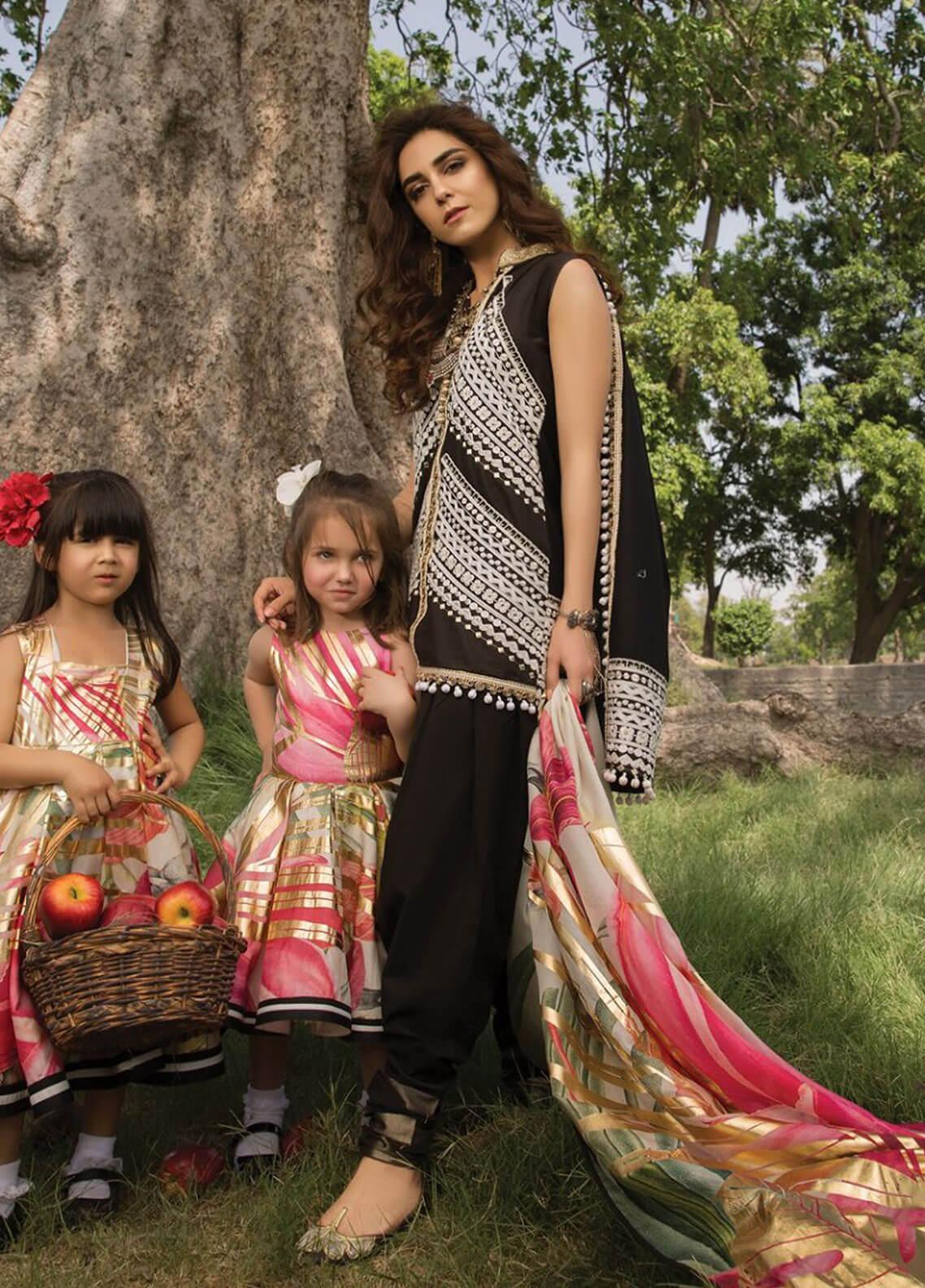 Crimson Embroidered Lawn Unstitched 3 Piece Suit CRM19F 5A INDIGENE - Festive Collection