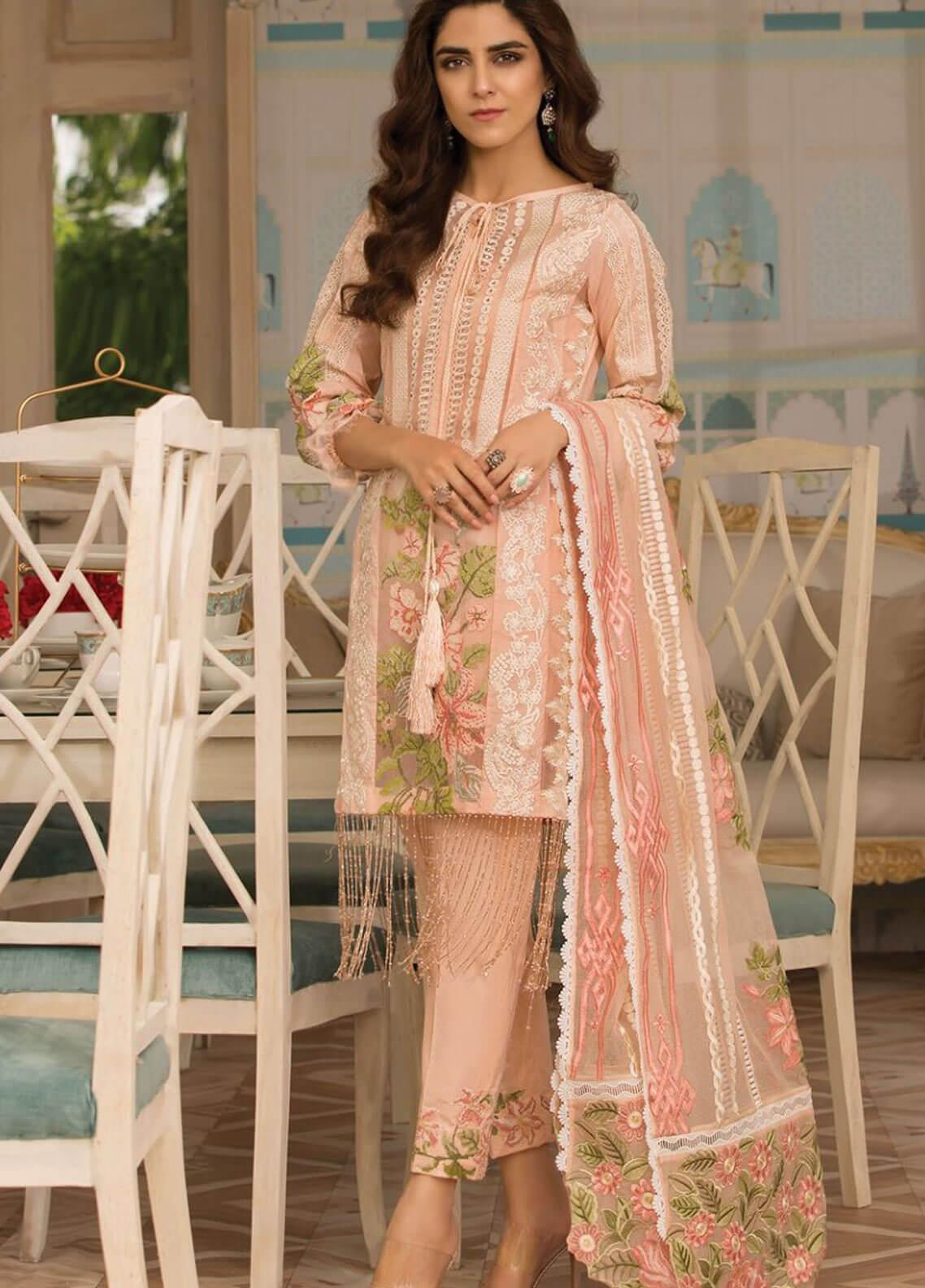 Crimson Embroidered Lawn Unstitched 3 Piece Suit CRM19F 6B ENGLISH TAPESTRY - Festive Collection