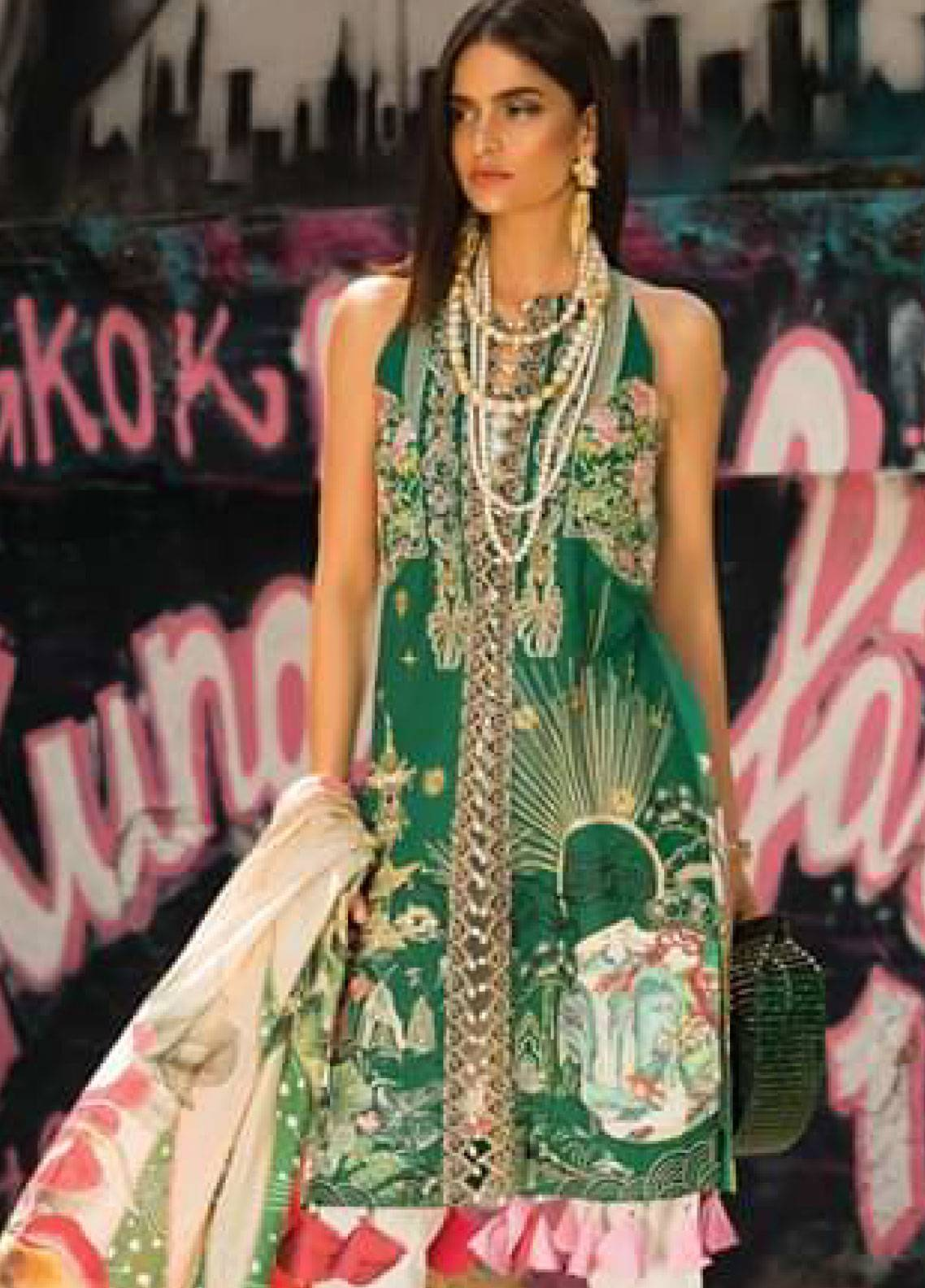 Crimson Embroidered Lawn Unstitched 3 Piece Suit CRM19L 4A - Spring / Summer Collection