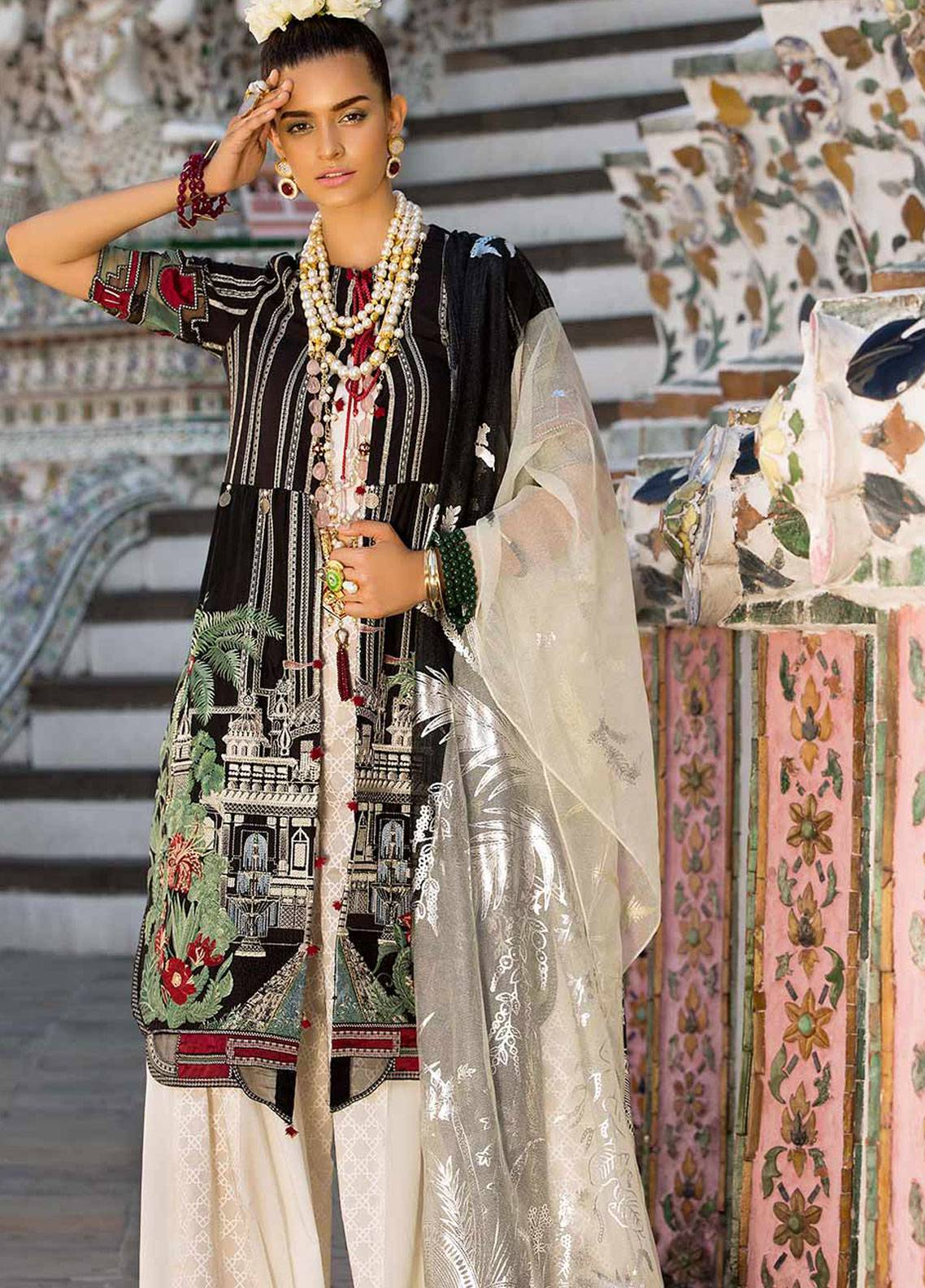 Crimson Embroidered Lawn Unstitched 3 Piece Suit CRM19L 6B - Spring / Summer Collection