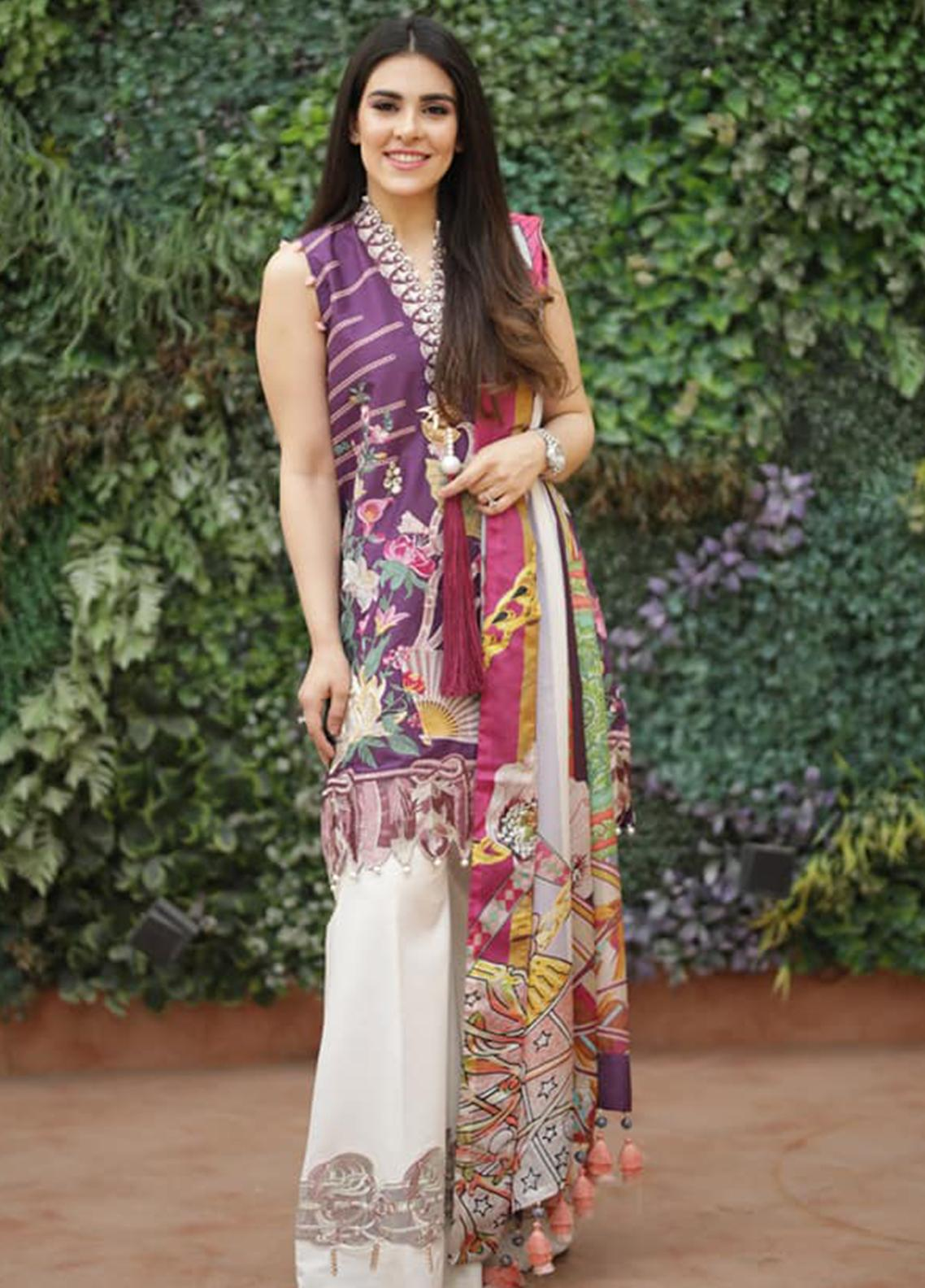 Crimson Embroidered Lawn Unstitched 3 Piece Suit CRM19L 2B - Spring / Summer Collection