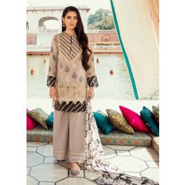 46ae548147 Cross Stitch Embroidered Jacquard Unstitched 3 Piece Suit CS19E 15 BARG-E- BAHAR - Eid Collection