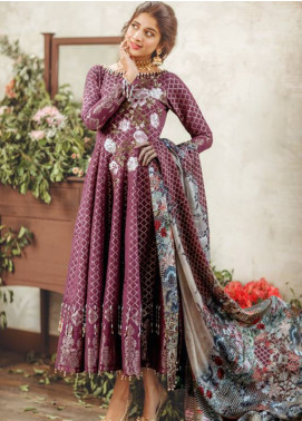 Noor By saadia asad Embroidered Lawn Unstitched 3 Piece Suit SA18L 16 GILDED GLAMOUR - Luxury Collection