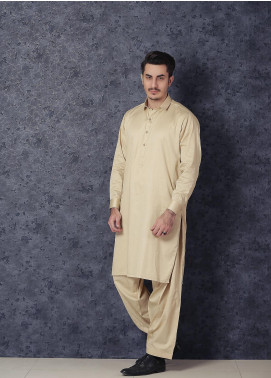 Mosaic Wash N Wear Formal Kameez Shalwar for Men -  D-17 Beige