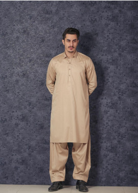 Mosaic Wash N Wear Formal Kameez Shalwar for Men -  D-17 Golden