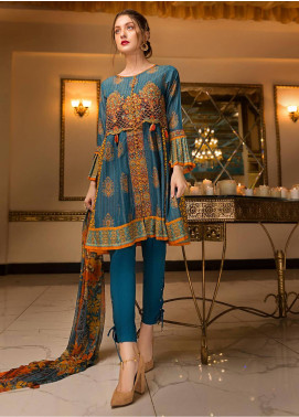 Edenrobe Embroidered Chambray Unstitched 3 Piece Suit ED18-F2 19343 - Festive Collection