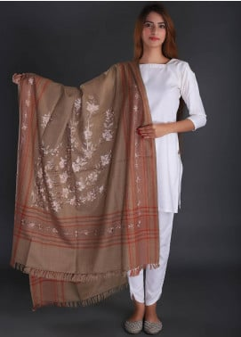 Sanaulla Exclusive Range Embroidered Pashmina  Shawl 03 - Formal Collection