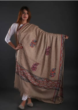 Sanaulla Exclusive Range Embroidered Pashmina  Shawl 05 - Formal Collection