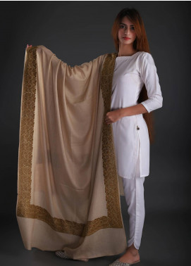 Sanaulla Exclusive Range Embroidered Pashmina  Shawl 15 - Formal Collection
