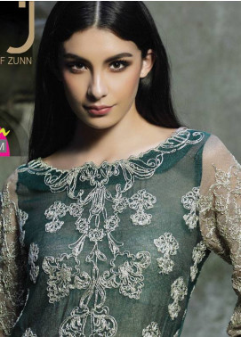 ZUNUJ Embroidered Cotton Net Unstitched 3 Piece Suit ZJ18C 03