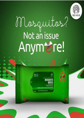 Tree House Quick n Effective Mosquito wipes / 30-wipes