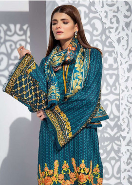 Areeba Saleem Embroidered Cotton Organza Unstitched 2 Piece Suit AS17C 1B