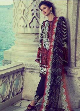 Elan Embroidered Chiffon Unstitched 3 Piece Suit  El17E Najila