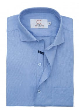 The Gentlemen's Club Cotton Formal Shirts for Men - Blue White Label 4066 - 18