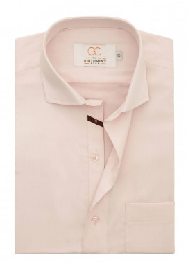 The Gentlemen's Club Cotton Formal Men Shirts - Pink White Label 4067 - 18.5