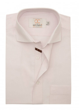 The Gentlemen's Club Cotton Formal Shirts for Men - Pink White Label 4068 - 18.5