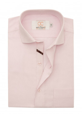 The Gentlemen's Club Cotton Formal Men Shirts - Pink White Label 4069 - 14.5