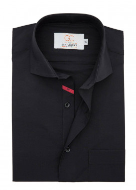 The Gentlemen's Club Cotton Formal Shirts for Men - Black White Label 4070 - 18.5