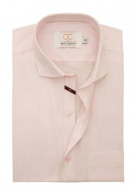 The Gentlemen's Club Cotton Formal Men Shirts - Pink White Label 4071 - 18.5