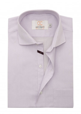 The Gentlemen's Club Cotton Formal Shirts for Men - Light Purple White Label 4074 - 18