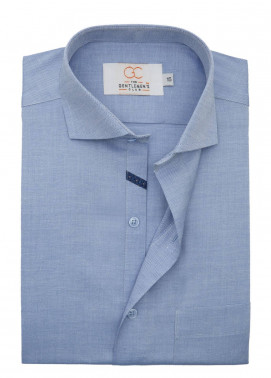 The Gentlemen's Club Cotton Formal Shirts for Men - Blue White Label 4076 - 18.5