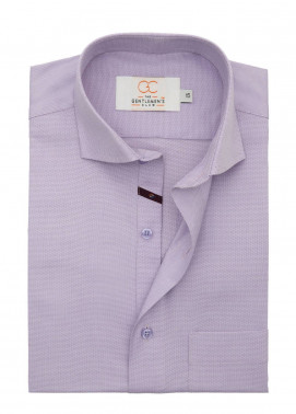 The Gentlemen's Club Cotton Formal Men Shirts - Purple White Label 4077 - 18.5