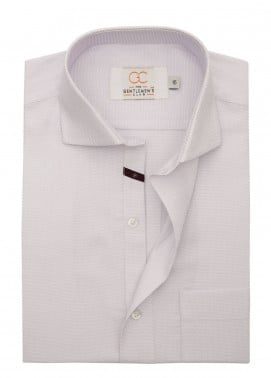 The Gentlemen's Club Cotton Formal Shirts for Men - Light Purple White Label 4078 - 18.5
