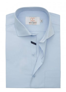 The Gentlemen's Club Cotton Formal Men Shirts - Sky Blue White Label 4079 - 18.5