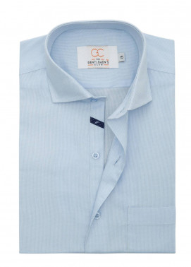 The Gentlemen's Club Cotton Formal Men Shirts - Sky Blue White Label 4081 - 18